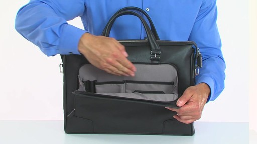 Tumi Astor Regis Slim Zip Top Leather Brief - Shop eBags.com - image 3 from the video