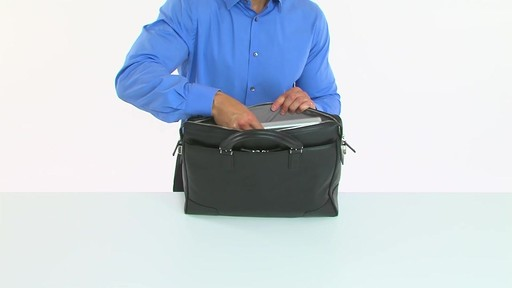 Tumi Astor Regis Slim Zip Top Leather Brief - Shop eBags.com - image 5 from the video