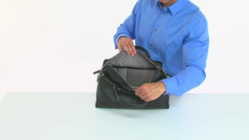 Tumi Astor Regis Slim Zip Top Leather Brief - Shop eBags.com - image 6 from the video