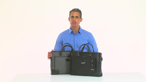 Tumi Astor Regis Slim Zip Top Leather Brief - Shop eBags.com - image 8 from the video
