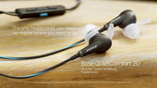 Bose QuietComfort 20 Headphones - Shop eBags.com - image 10 from the video