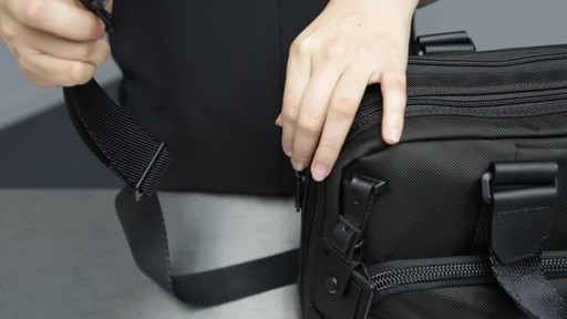 Tumi Alpha Bravo Albany Slim Commuter Brief - image 1 from the video