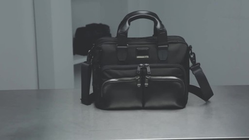 Tumi Alpha Bravo Albany Slim Commuter Brief - image 10 from the video