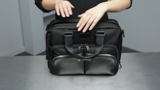 Tumi Alpha Bravo Albany Slim Commuter Brief - image 7 from the video