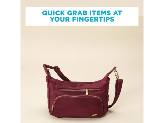 Travelon Anti-Theft Front Pocket Crossbody Bag with RFID - Exclusive - image 10 from the video