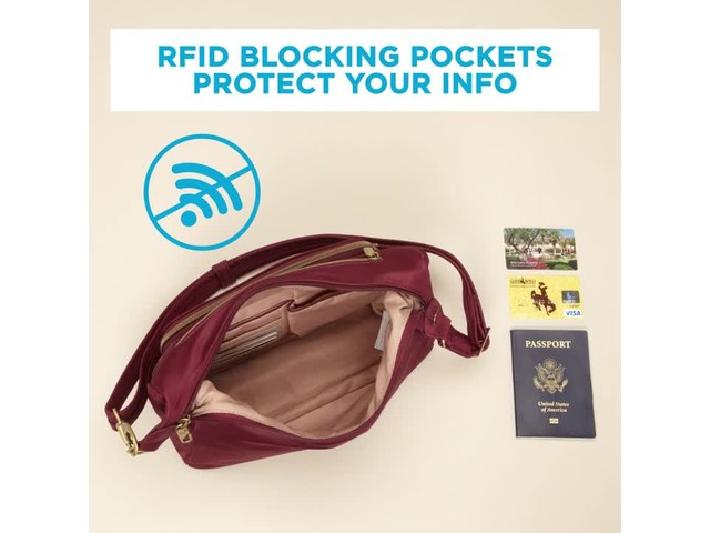Travelon Anti-Theft Front Pocket Crossbody Bag with RFID - Exclusive - image 5 from the video
