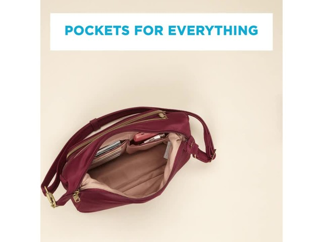 Travelon Anti-Theft Front Pocket Crossbody Bag with RFID - Exclusive - image 6 from the video