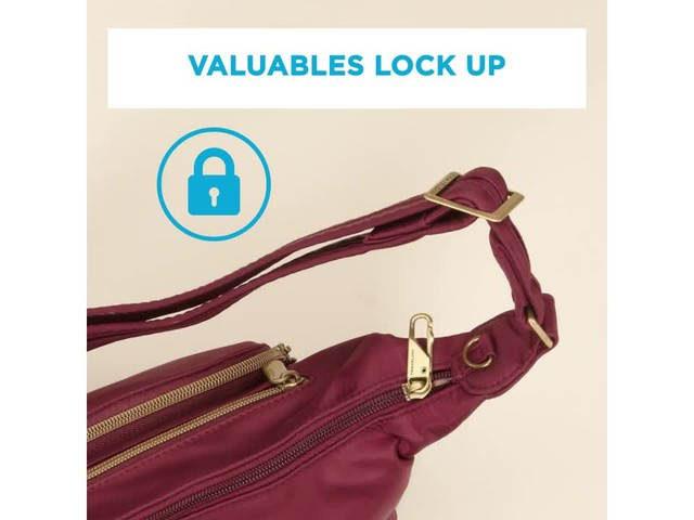Travelon Anti-Theft Front Pocket Crossbody Bag with RFID - Exclusive - image 9 from the video