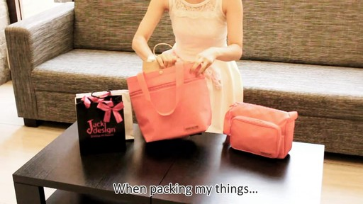 Jacki Design New Essential Expandable Rolling Shopping Grocery Bag - eBags.com - image 3 from the video