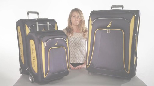 Nautica Charter 3 Piece Luggage Set - eBags.com - image 10 from the video