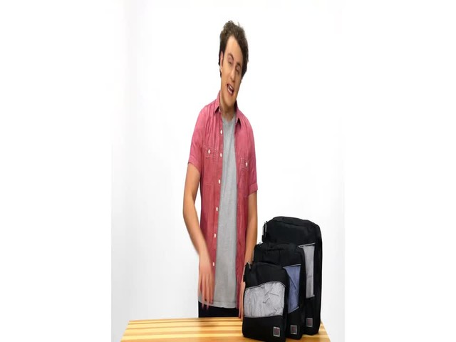 Suvelle 3-Piece Set of Luggage Organizer Packing Cubes - image 3 from the video