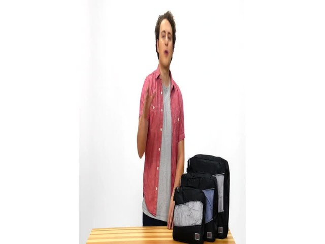 Suvelle 3-Piece Set of Luggage Organizer Packing Cubes - image 7 from the video