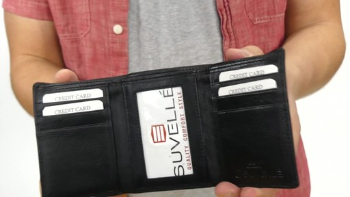 Suvelle Trifold Mens Genuine Leather Slim RFID Wallet - image 5 from the video