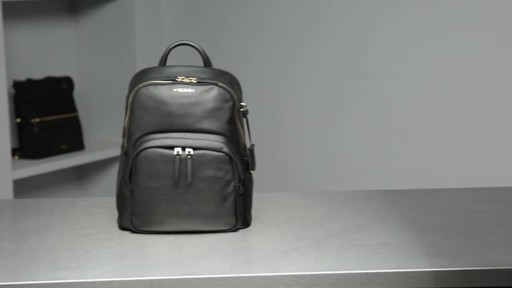 Tumi Voyageur Dori Leather Backpack - image 10 from the video