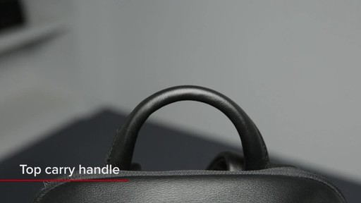 Tumi Voyageur Dori Leather Backpack - image 3 from the video