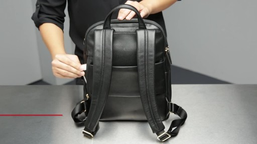 Tumi Voyageur Dori Leather Backpack - image 4 from the video