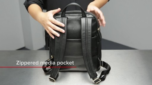Tumi Voyageur Dori Leather Backpack - image 5 from the video