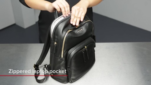 Tumi Voyageur Dori Leather Backpack - image 7 from the video