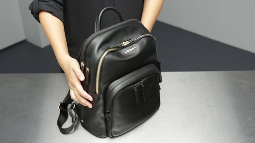 Tumi Voyageur Dori Leather Backpack - image 8 from the video