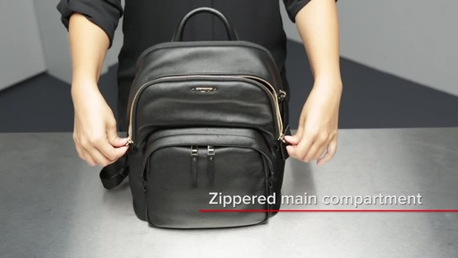 Tumi Voyageur Dori Leather Backpack - image 9 from the video