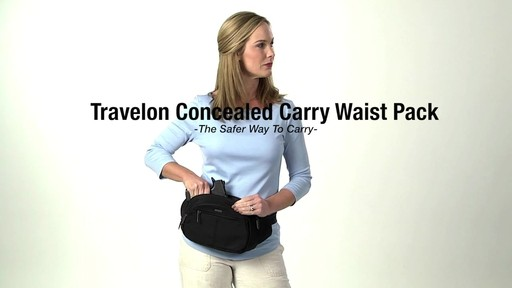 Travelon Anti-Theft Concealed Carry Waist Pack - Shop eBags.com - image 1 from the video