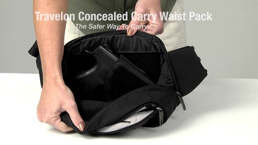 Travelon Anti-Theft Concealed Carry Waist Pack - Shop eBags.com - image 10 from the video