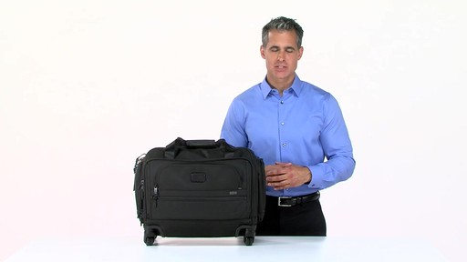 Tumi Alpha 2 4 Wheeled Compact Duffel - image 3 from the video