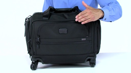 Tumi Alpha 2 4 Wheeled Compact Duffel - image 6 from the video