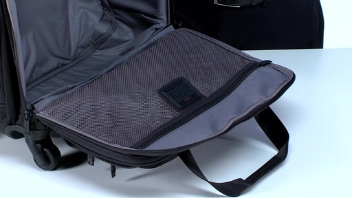 Tumi Alpha 2 4 Wheeled Compact Duffel - image 9 from the video