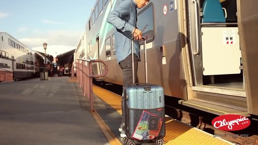 Olympia USA Hardside Spinner Luggage Collection - image 10 from the video