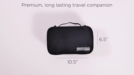 1fe64b93c2 EMME Petite Cosmetics and Toiletries Travel Bag - image 8 from the video