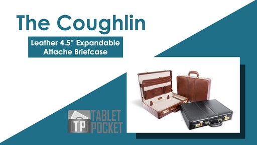McKlein USA Coughlin Leather Expandable Attache Case - image 2 from the video