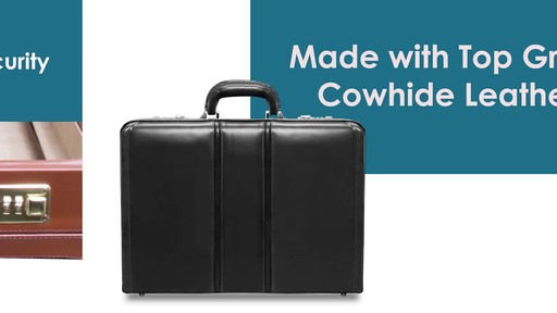 McKlein USA Coughlin Leather Expandable Attache Case - image 3 from the video