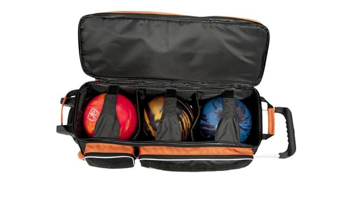KR Strikeforce Bowling Krush Triple Bowling Ball Roller Bag - image 7 from the video
