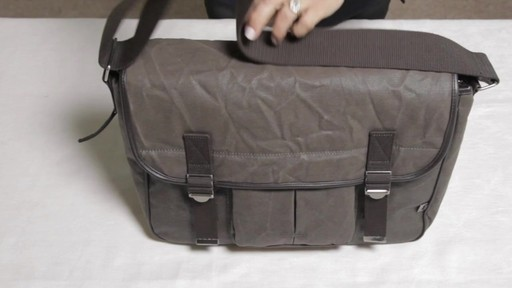 OiOi Crushed Wax Canvas Messenger Diaper Bag - eBags.com - image 10 from the video