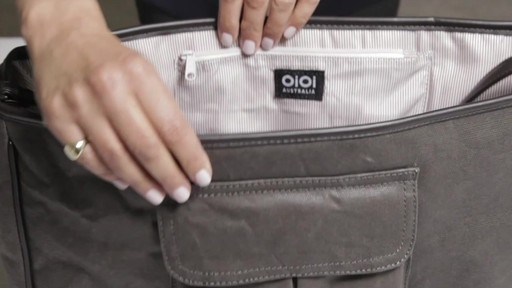 OiOi Crushed Wax Canvas Messenger Diaper Bag - eBags.com - image 2 from the video