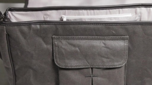 OiOi Crushed Wax Canvas Messenger Diaper Bag - eBags.com - image 8 from the video