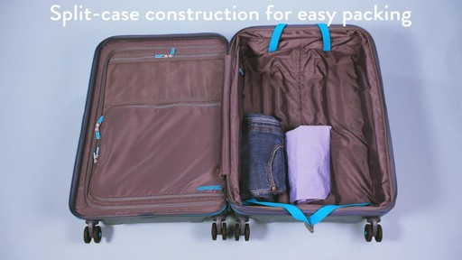 American Tourister Technum Expandable Hardside Spinner Luggage Collection - image 7 from the video