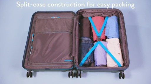 American Tourister Technum Expandable Hardside Spinner Luggage Collection - image 8 from the video