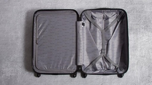 Kenneth Cole Reaction Out of Bounds Molded Upright Spinner Luggage - image 1 from the video