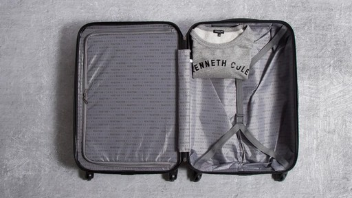 Kenneth Cole Reaction Out of Bounds Molded Upright Spinner Luggage - image 10 from the video