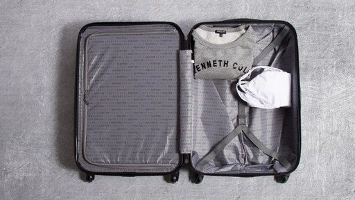 Kenneth Cole Reaction Out of Bounds Molded Upright Spinner Luggage - image 2 from the video