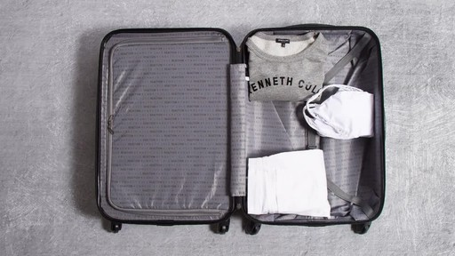 Kenneth Cole Reaction Out of Bounds Molded Upright Spinner Luggage - image 3 from the video