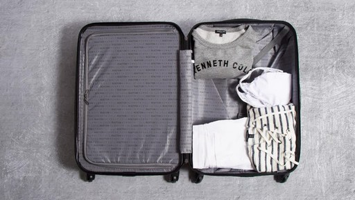 Kenneth Cole Reaction Out of Bounds Molded Upright Spinner Luggage - image 4 from the video