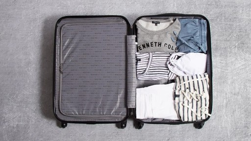 Kenneth Cole Reaction Out of Bounds Molded Upright Spinner Luggage - image 5 from the video