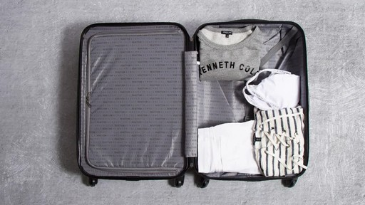 Kenneth Cole Reaction Out of Bounds Molded Upright Spinner Luggage - image 8 from the video