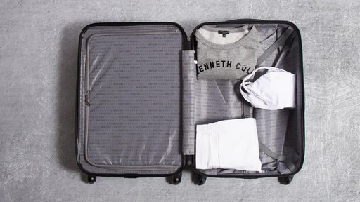 Kenneth Cole Reaction Out of Bounds Molded Upright Spinner Luggage - image 9 from the video