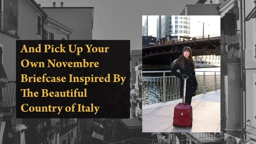 Siamod Monterosso Collection Novembre Ladies Wheeled Laptop Case - image 10 from the video