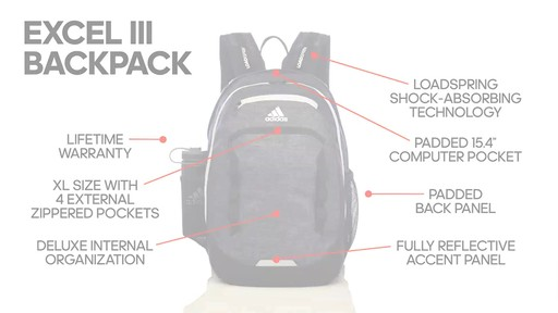 4332fe4293 adidas Excel III Backpack - image 10 from the video