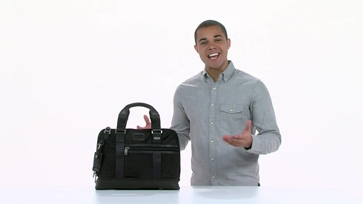 Tumi Alpha Bravo Earle Compact Brief - image 1 from the video
